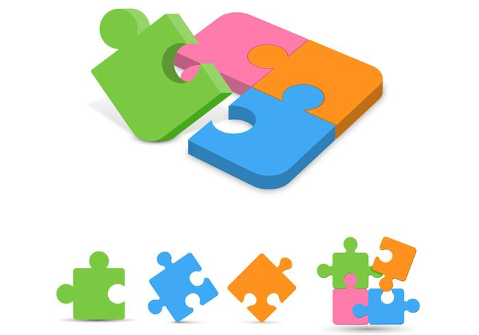 Puzzle Pieces Vector Pack