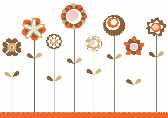 Retro Flower Background Vector