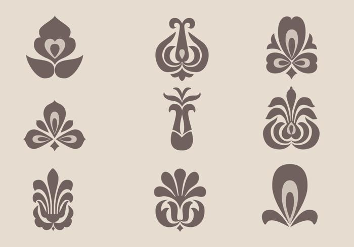 Floral Ornament Vector Free: Floral Ornament Vector Pack