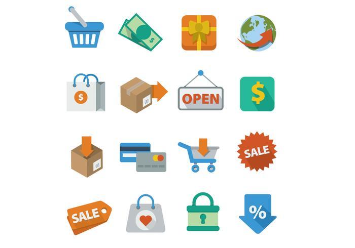 Shopping Icons Vectors