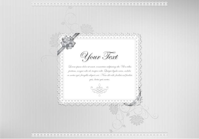 Classy Silver Lace Vector Background