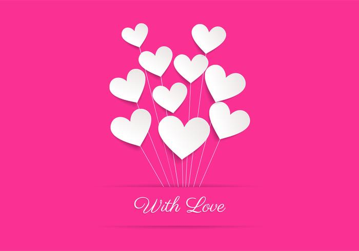 Love Wallpaper Vector : Pink Heart Balloon Love Vector Background - Download Free ...