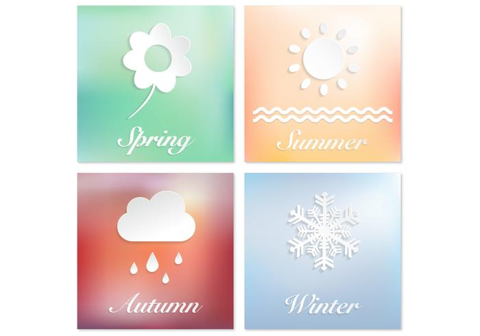 Four Seasons Vector Background