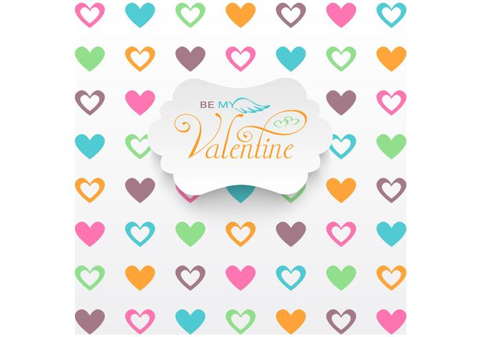 Heart Filled Valentine's Day Vector Background
