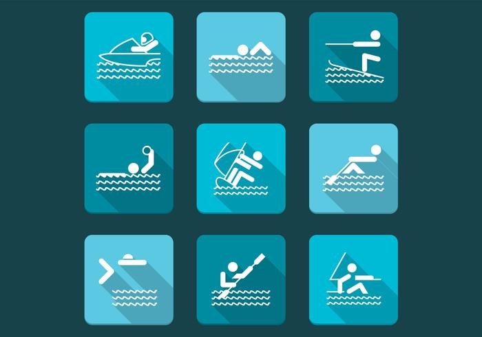 Water Sports Vector Icon Pack