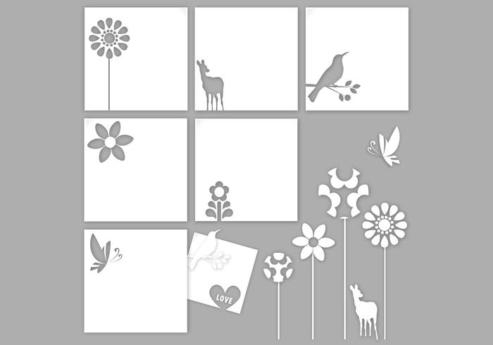 Cutout Natural Paper Vector Pack