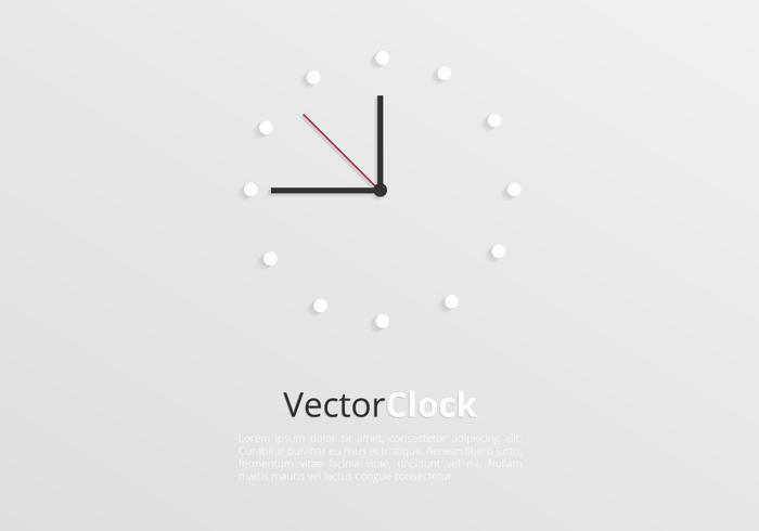 Modern Clock Background Vector