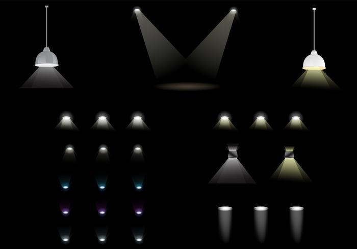 Spot Light Vector Pack Download Free Vector Art Stock