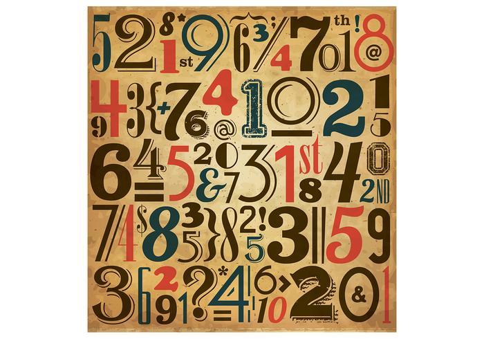Vintage Number Vector Background
