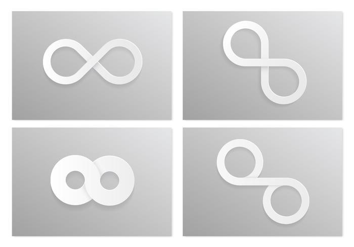 White Infinity Vector Symbol Pack