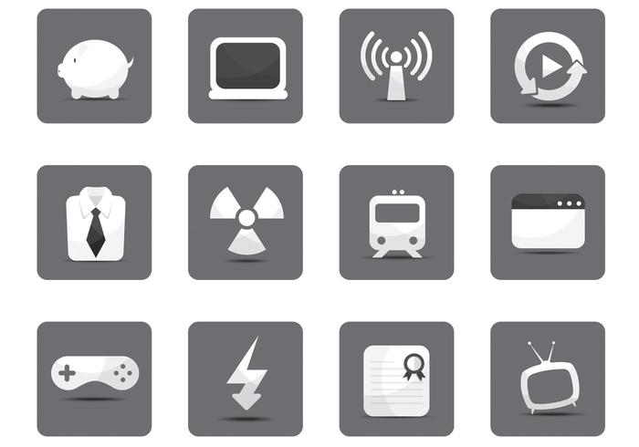 White Miscellaneous Icon Vector Pack