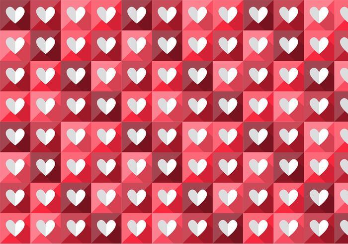 Folded Heart Vector Pattern