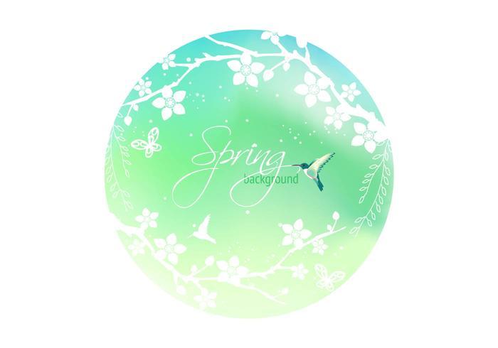 Spring Blossom Background Vector