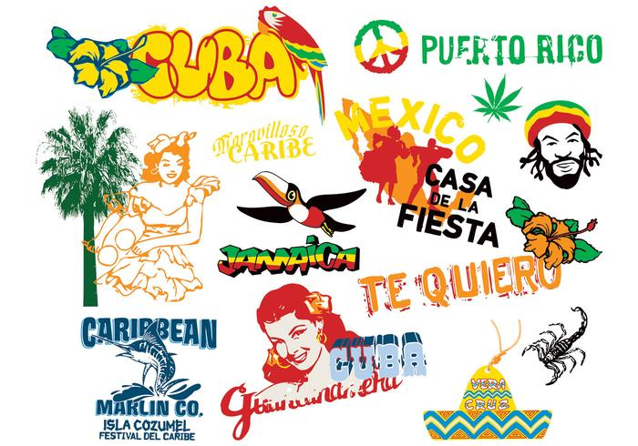 Caribbean Culture: Caribbean Culture Elements Vector
