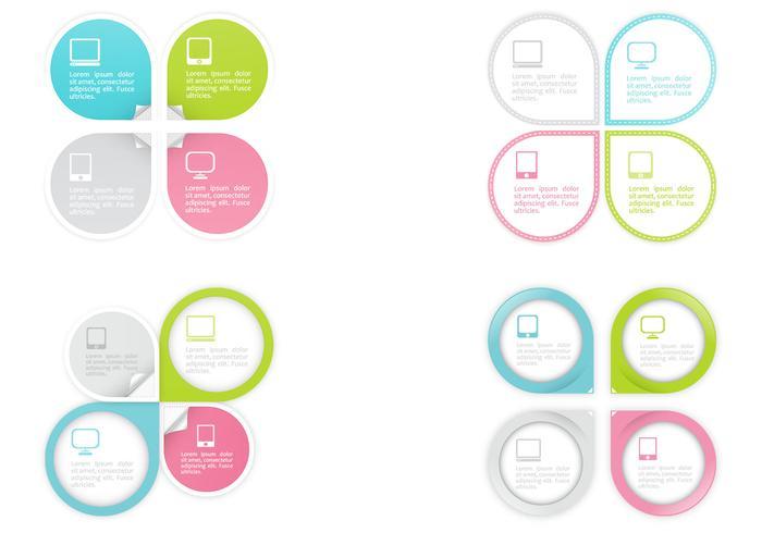 Pointer Infographic Design Vectors