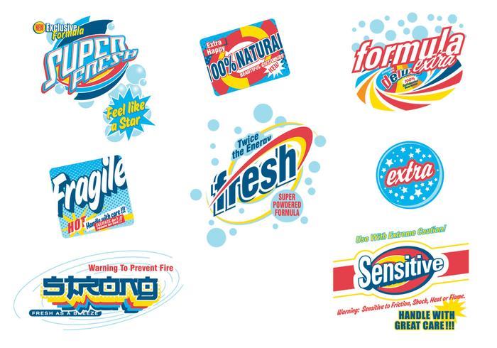 Retro Laundry Soap Advertising Vector