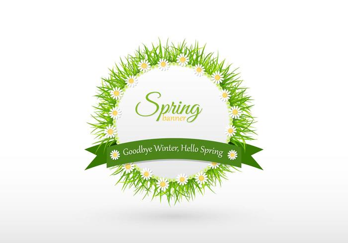 Goodbye Winter Spring Banner Vector