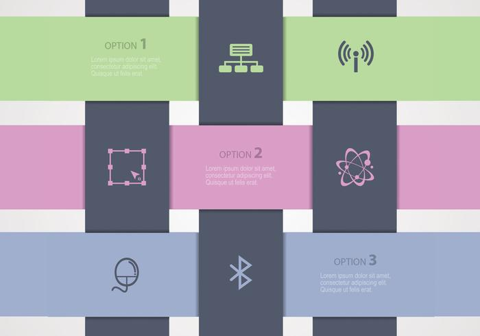 Woven Paper Banners Vector