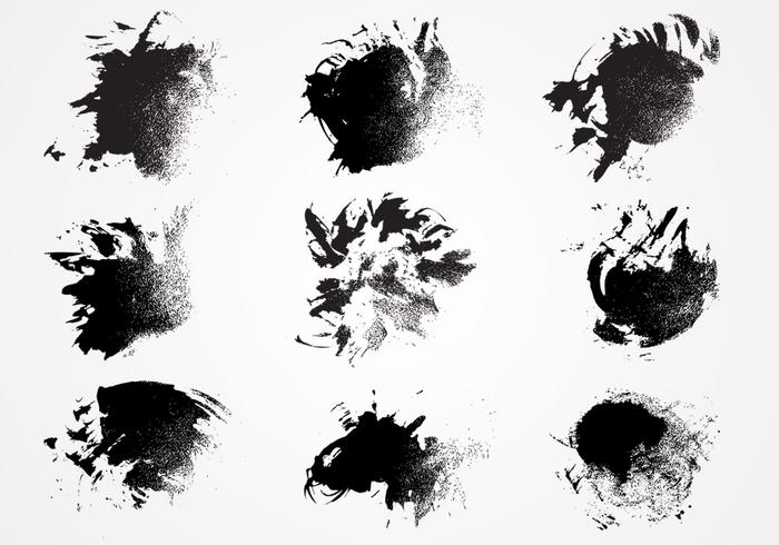 Ink Paint Texture Vector Pack