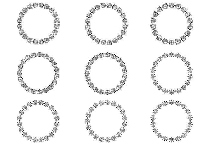 Floral Wreath Vector Pack