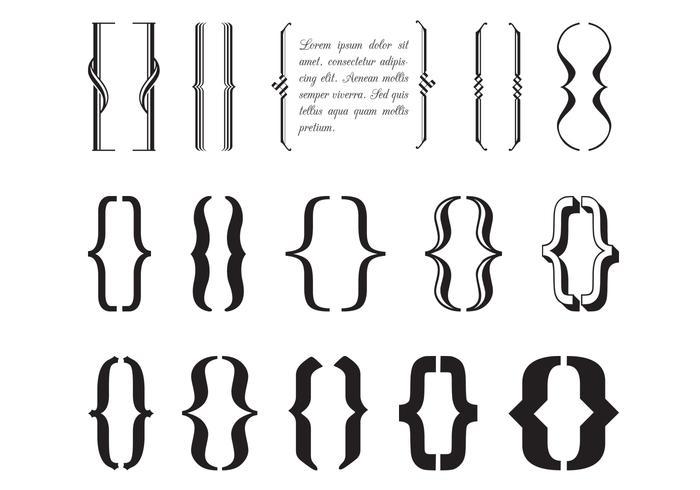 Typografie Klammern Vektor Pack