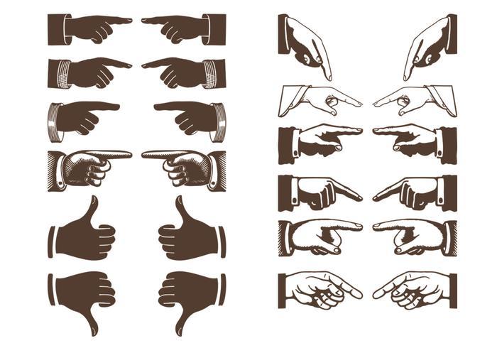 Vintage Hands Vector Pack