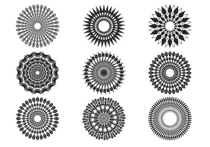 Dekorative Sunburst-Vektoren