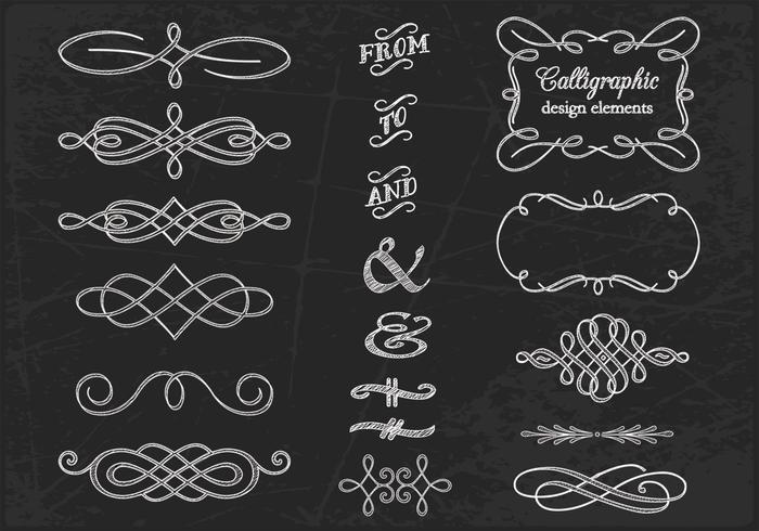 Chalk Drawn Calligraphic Vectors