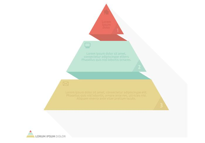 Flat Origami Pyramid Vector