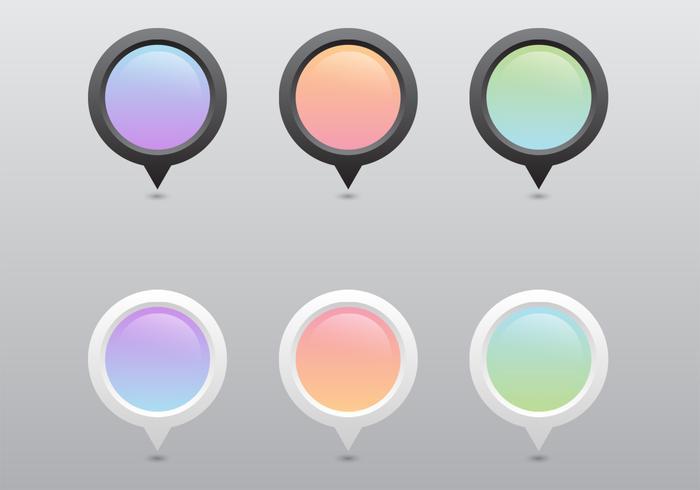 Pastel Pointer Vector Set