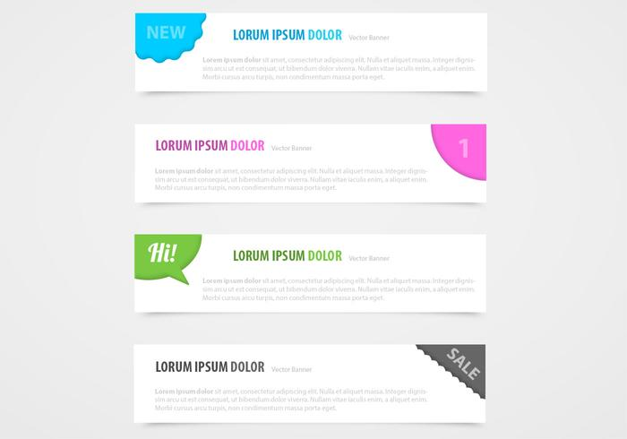 Hoek banner vector set
