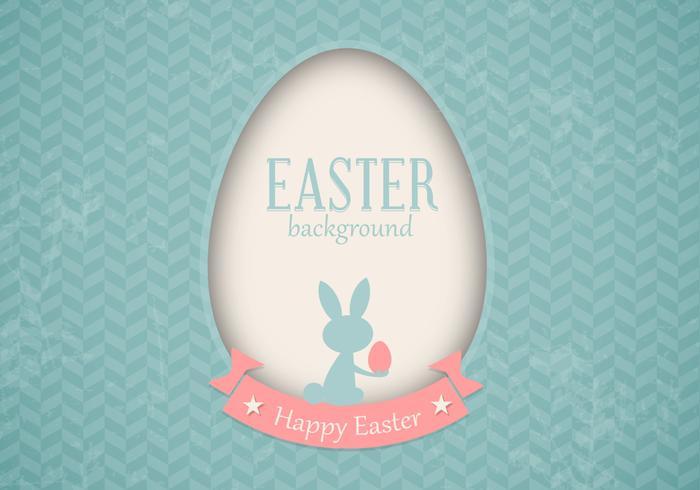 Retro Easter Card Vector