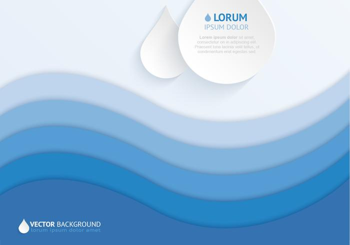 Layered Water Drop Background Vector