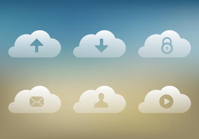 Transparent Cloud Icons Vector Pack