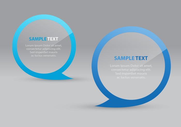 Transparent Speech Bubbles Vectors
