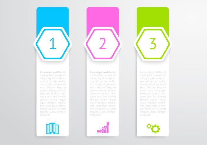 Vertical Hexagon Banners Vector Set