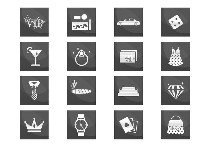 VIP Luxury Icons Vector Set