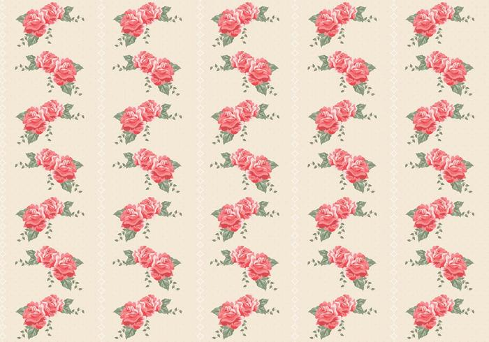 Retro Roses Seamless Pattern Vector