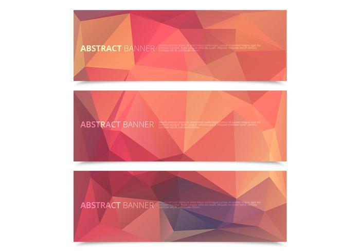 Gemetrische polygonale banners vector pack