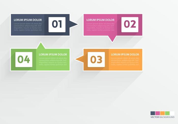 Flat Speech Bubble Infographic Vector Set