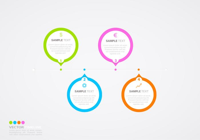Horizontal Timeline Infographic Vector Template  Download Free