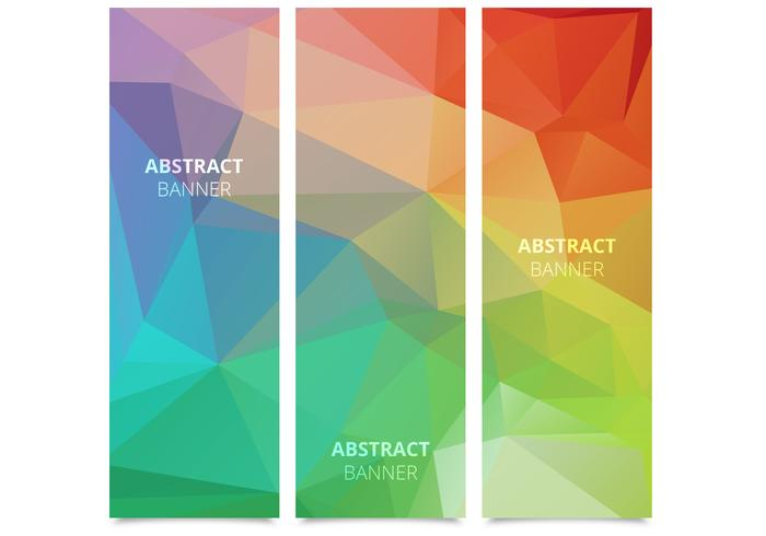Abstract Polygonal Banners Vector Set