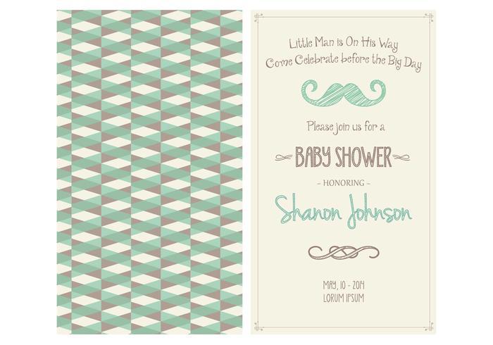 Baby Boy Shower Invitation Vector