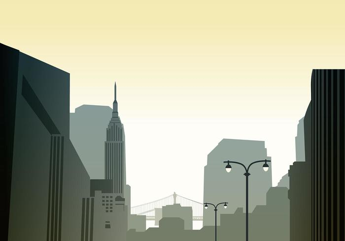 Cityscape Horizon Wallpaper Vector