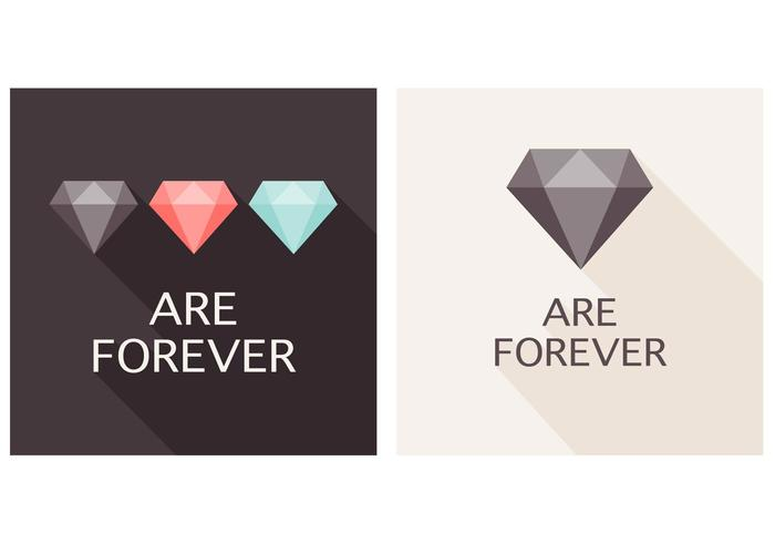 Flat Diamonds are Forever Vector Background