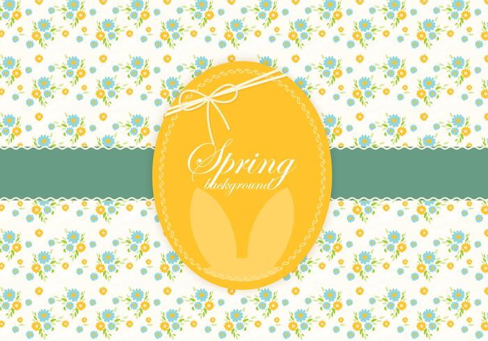 Vecteur floral de pâques de printemps