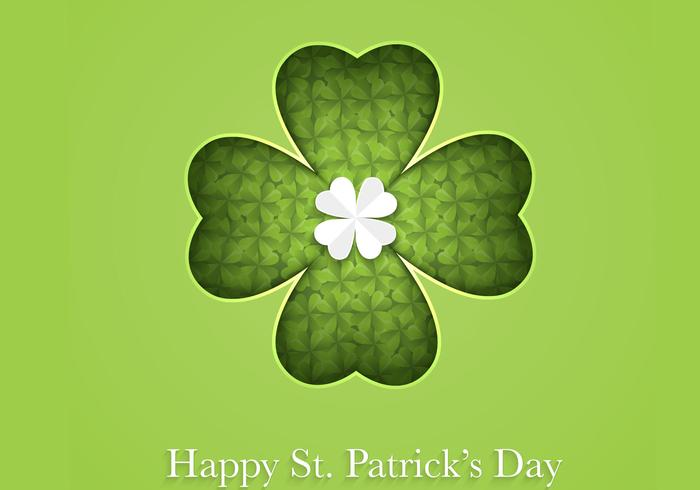 Cutout Clover Happy St Patrick's Day Vector