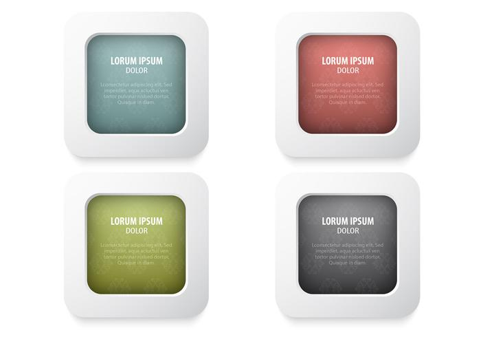 Damask Buttons Vector Pack