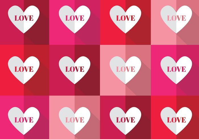 Bright Hearts Pattern Vector