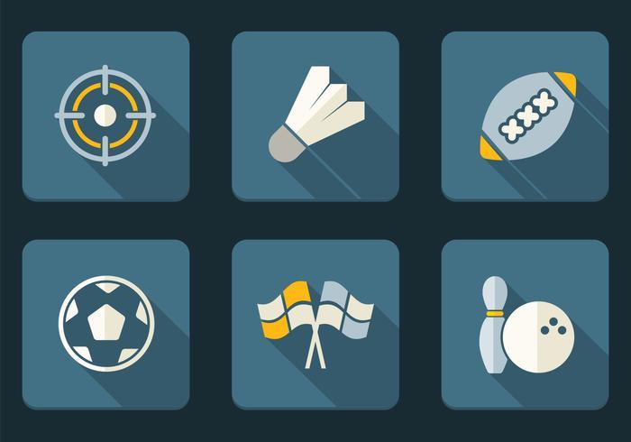 Conjunto de iconos de iconos de deporte plano